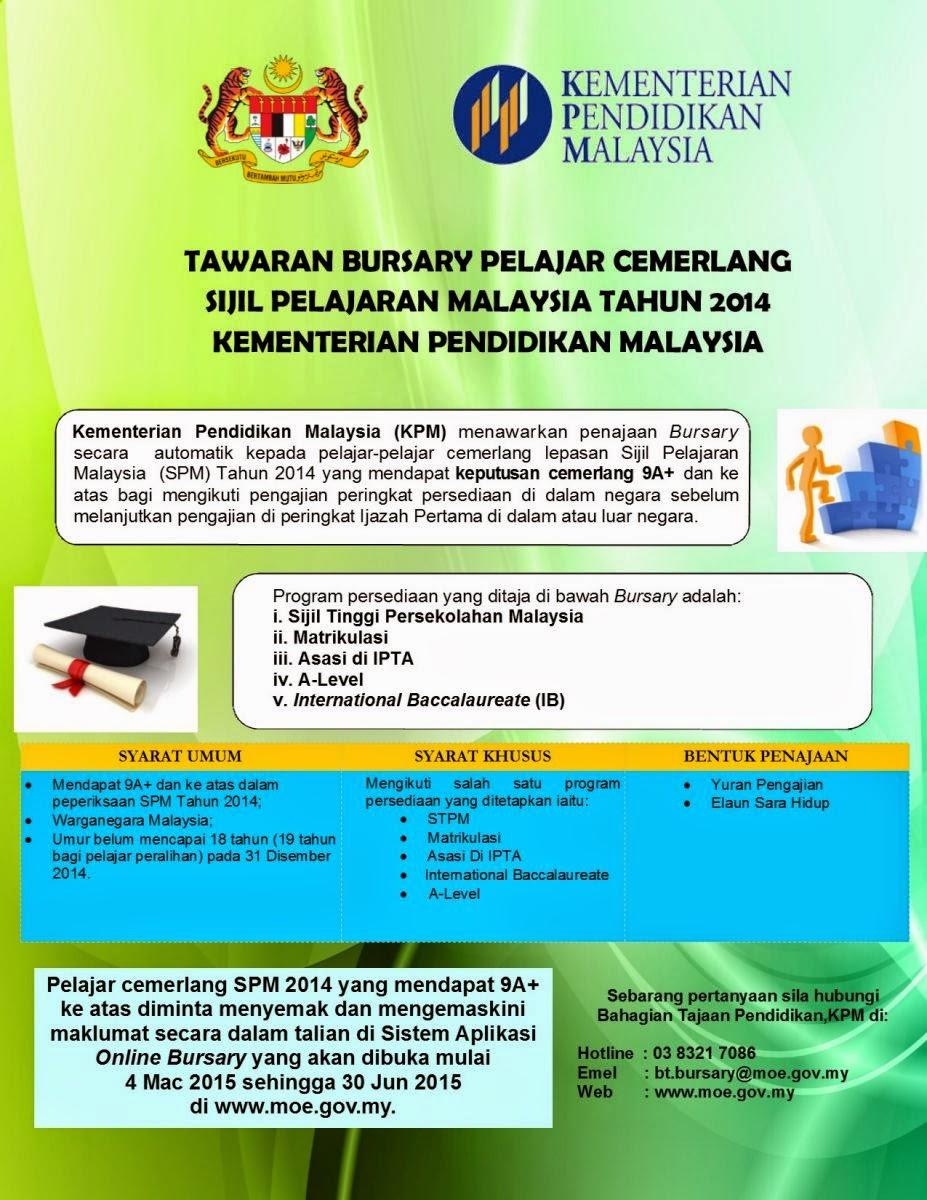tawaran penajaan bagi pelajar cemerlang spm 2014