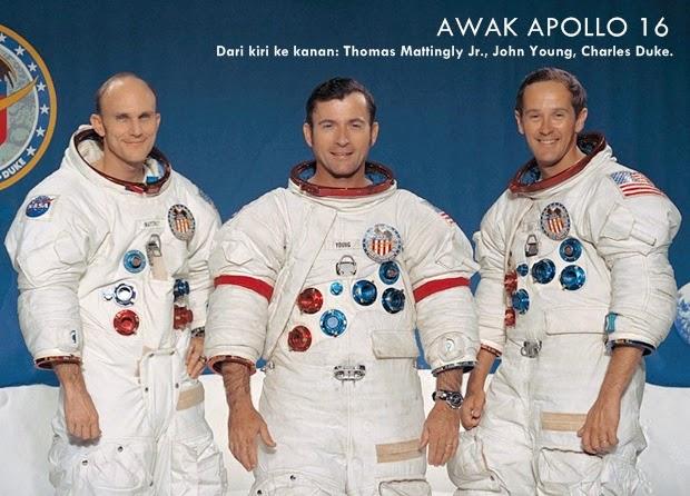 HARI INI 1972: Misi Berawak ke-10 pada Apollo 16 Berhasil Mendarat di Bulan