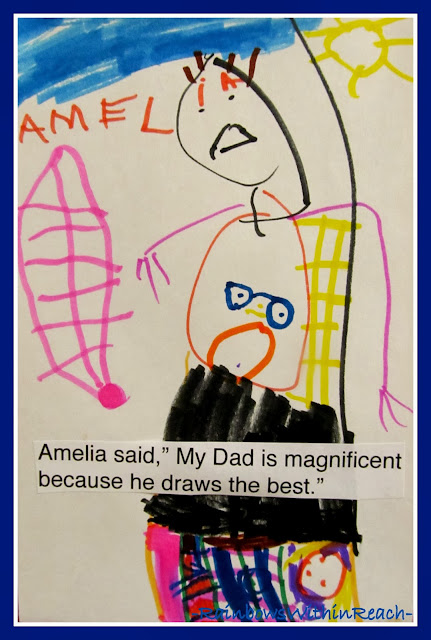 Child's Drawing Together with Dad via RainbowsWithinReach