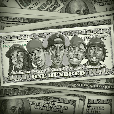 Travis Barker - 100 (feat. Kid Ink, Ty Dolla $ign, Iamsu!, & Tyga) - Single Cover