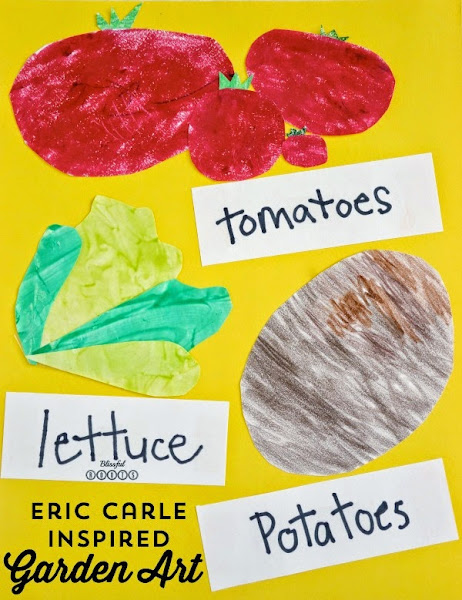Eric Carle Inspired Garden Art For Kids @ Blissful Roots