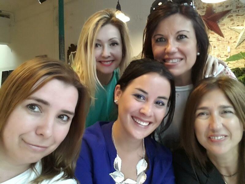 Elle, Mariola, Celeste, Lydia y Carmen