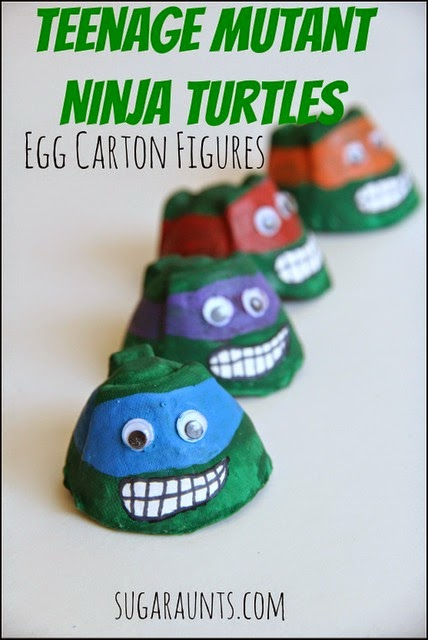 TMNT egg carton play figures