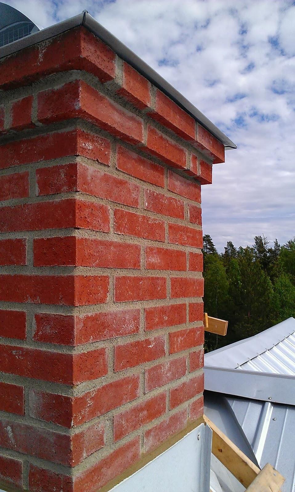 Lilla tavelsjö: skorsten och mur