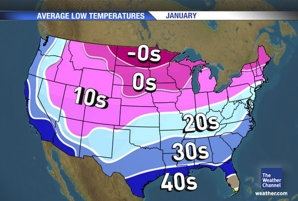 Life Out Here January - Map us low temperature january