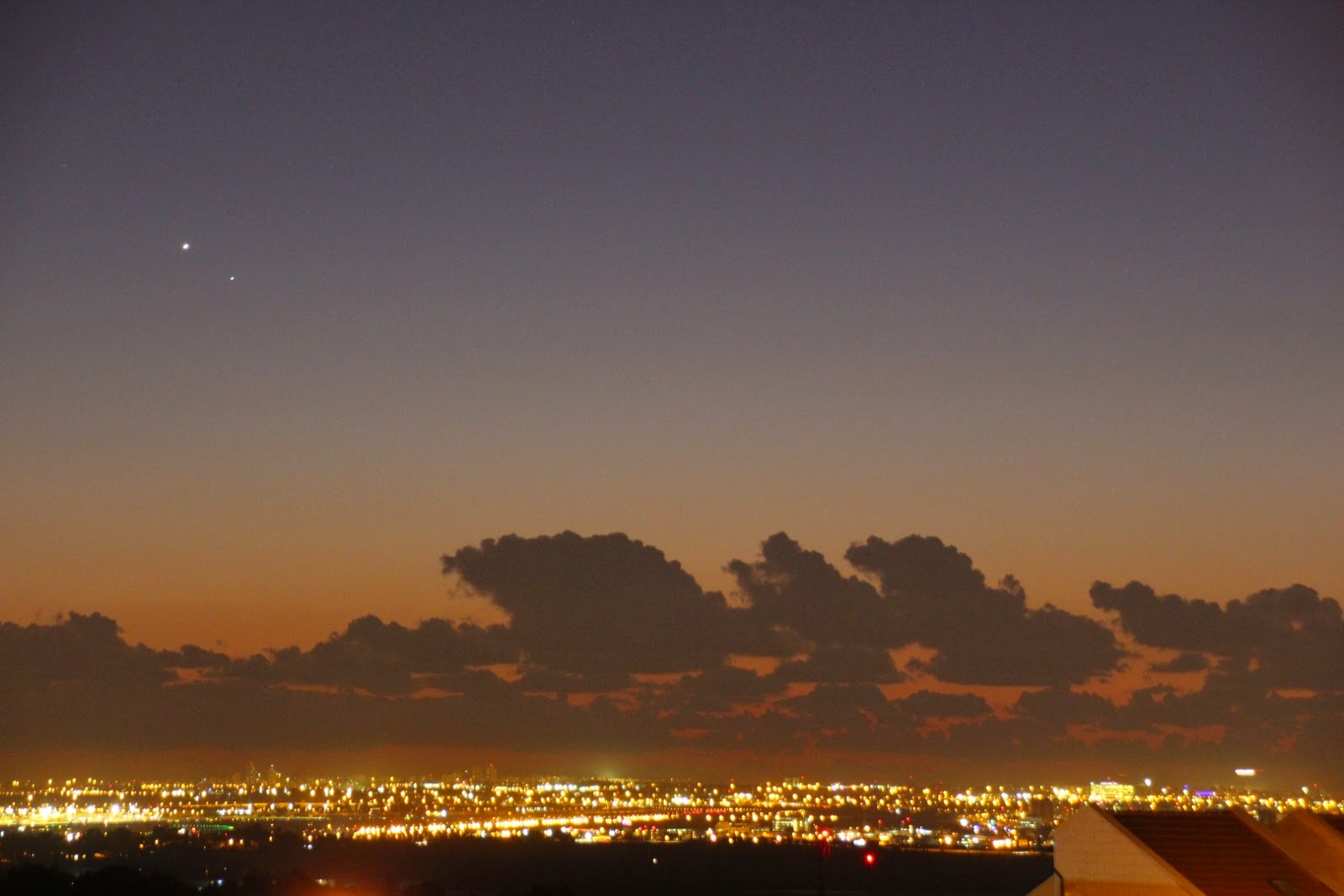 Venus Mercury and an airplane landing