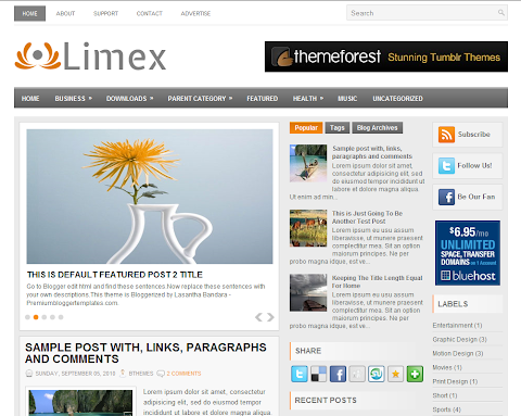 Limex Blogger Theme