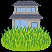 庭の雑草のイラスト