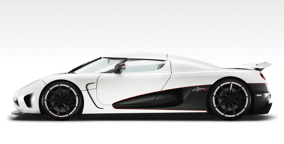 El Koenigsegg Agera R on 2d house drawing
