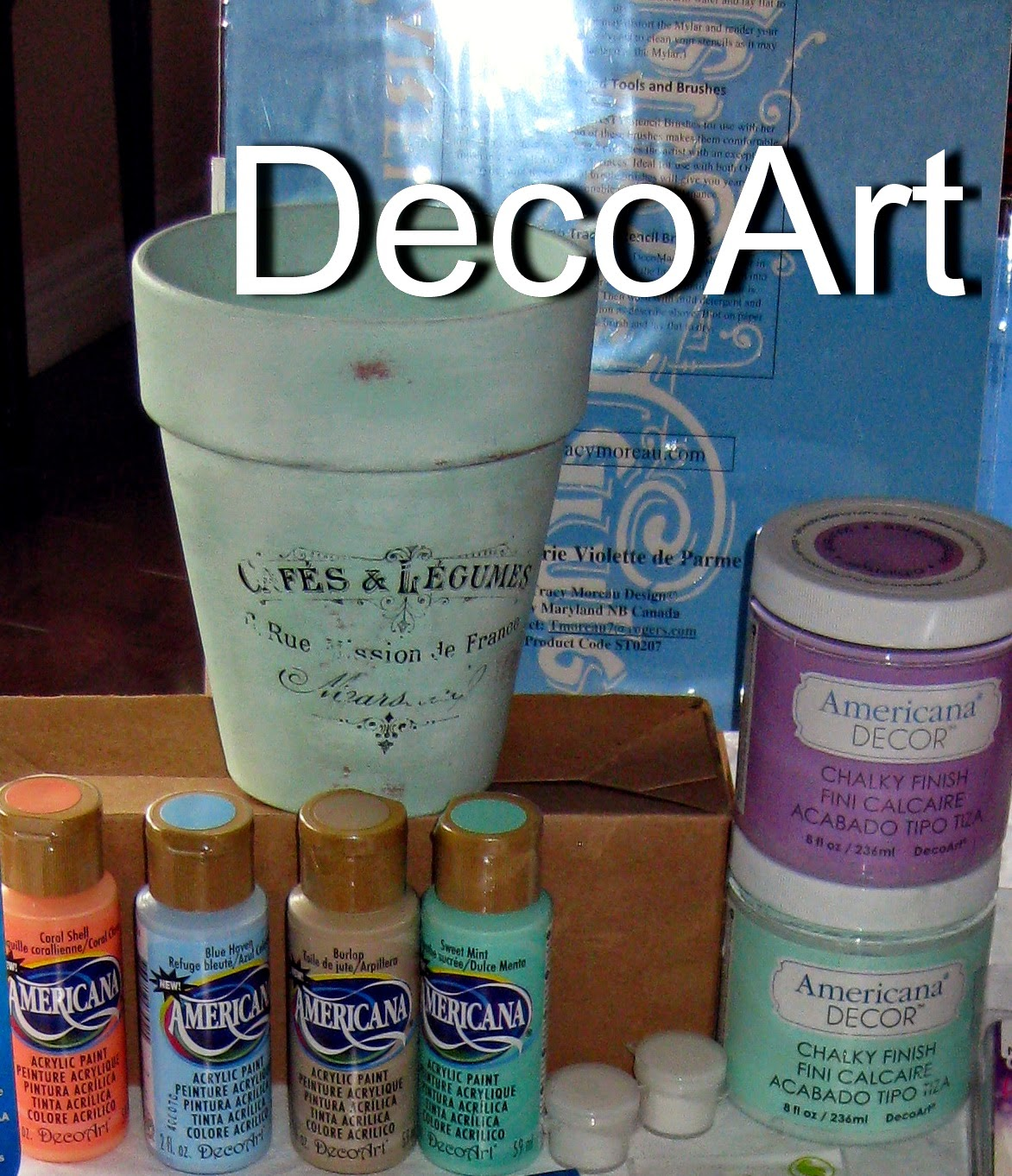 DecoArt Chalky Finish and paints