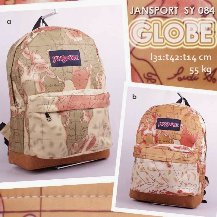 jual online Tas Jansport Murah Model Ransel Motif Map - Globe SY 084