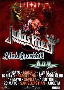 Entradas a la venta para Judas Priest en Madrid, Barcelona y San Sebastián.
