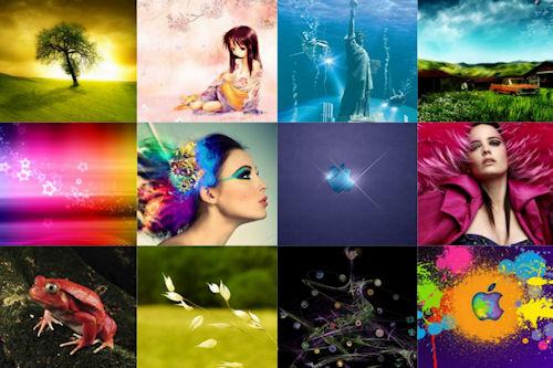 Imágenes surtidas para iPad y iPad2 I (12 wallpapers)