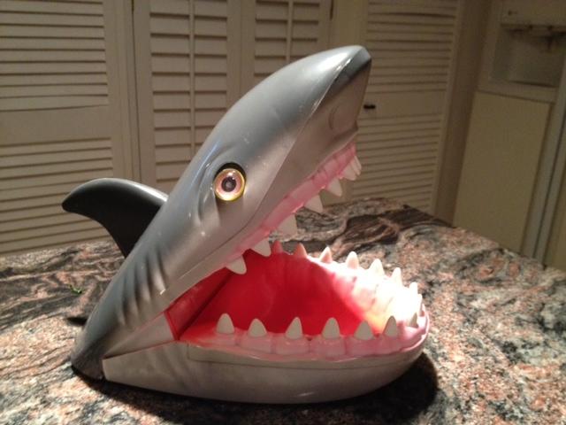 Shark Toy Box : Outside the box shark birthday party