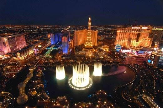 Happy New Year 2014 Countdown Las Vegas, USA.