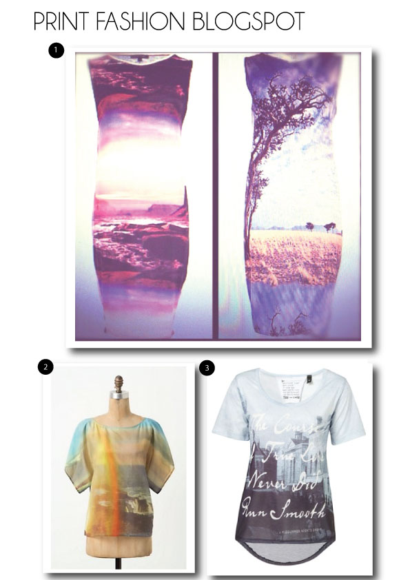 photographic landscape fashion prints