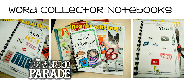 5 tips for teaching sight words how to make them stick the each student had their very own word collector notebook as well they could search through magazines find the words cut them out and glue them inside of fandeluxe Image collections