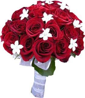 red wedding flowers bridal bouquet