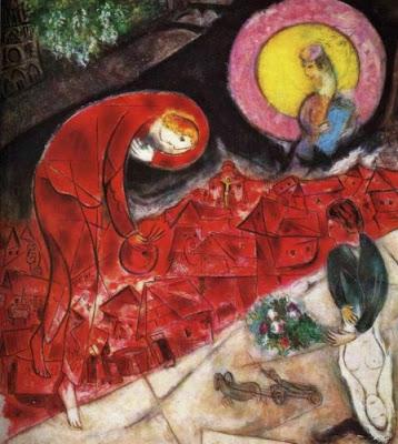 Los tejados rojos 1953, Marc Chagall