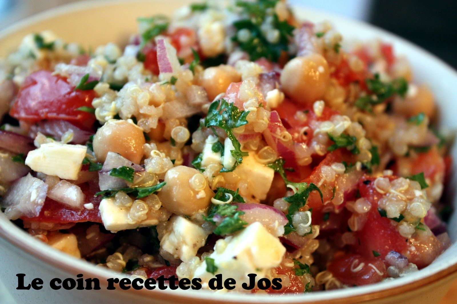Recipe Quinoa salad with grilled corn tomatoes and