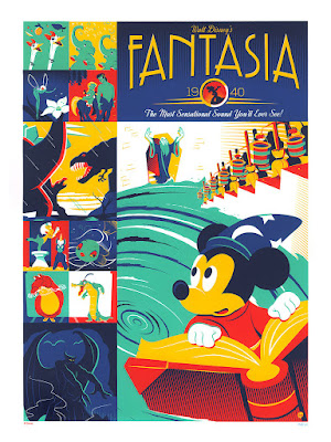 Disney's Fantasia 75th Anniversary Screen Print by Dave Perillo x Cyclops Print Works