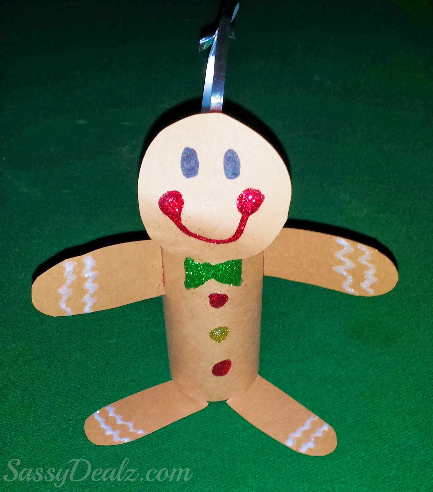 Gingerbread man toilet paper roll craft for kids cute christmas art