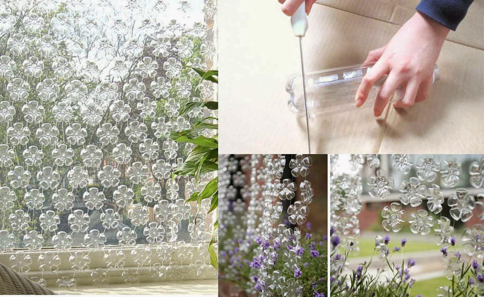 DIY: Cortina de Flores - Botellas plásticas recicladas