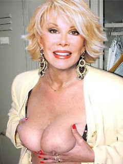 Half Naked Joan Rivers Pressing her Tits