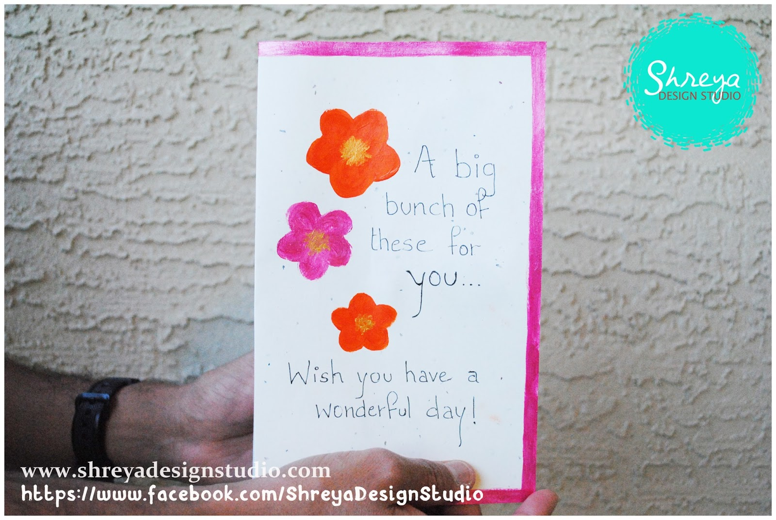 Tutorial how to make a seven flower pop up card shreya design studio it looks fresh and can be made to greet on several occasions like birthdays anniversaries mothers day friendship day or just to say a hello kristyandbryce Choice Image