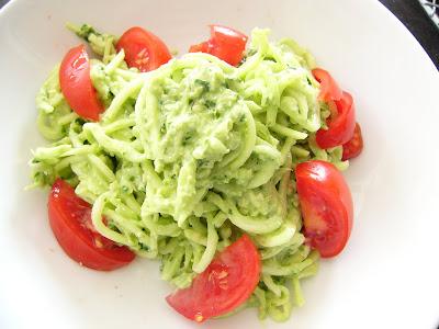 Tebasiles Kitchen: Zucchini Noodles with Wild Leek Pesto