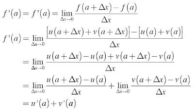 Turunan Fungsi Berbentuk y = u ± v
