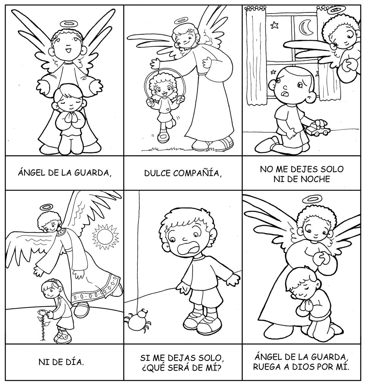 Dibujos para catequesis: ORACIÓN DEL ÁNGEL DE LA GUARDA