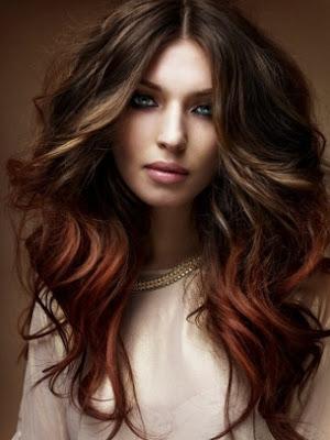 peinado largo sexy mujer