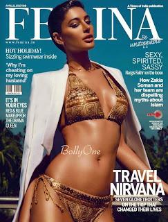 Nargis Fakhri Sizzling Bikini Pics for Femina April 2015