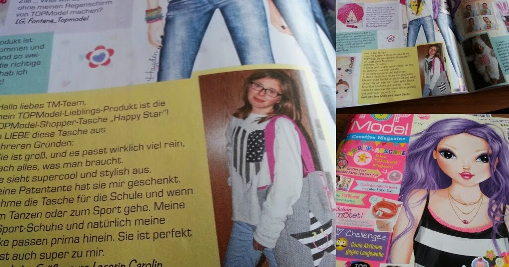 caros fashion fun and diy topmodel zeitschrift mit meinem artikel. Black Bedroom Furniture Sets. Home Design Ideas