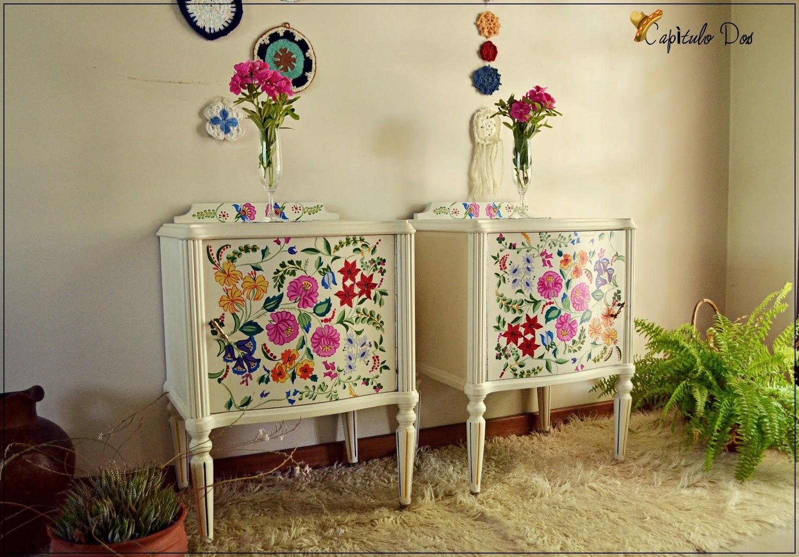 Capitulo dos inspiraci n bordado mexicano - Cajoneras decoradas ...