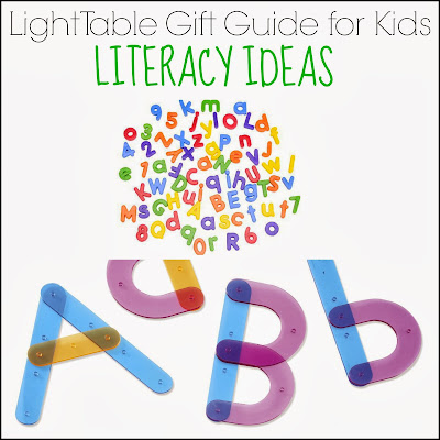 Light Table Gift Guide for Kids: Literacy Ideas from And Next Comes L