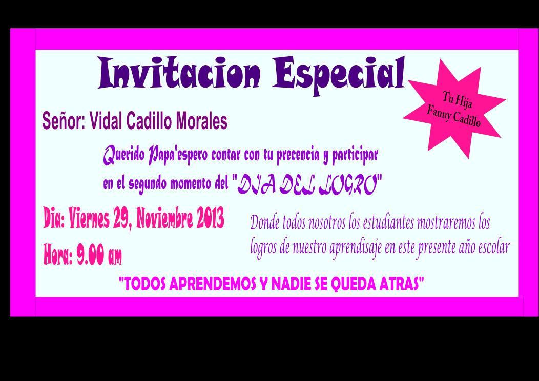 Modelos De Tarjetas De Invitacion Dia Del Logro | MEJOR CONJUNTO DE