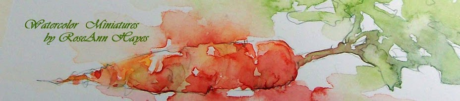 RoseAnn Hayes Miniature Watercolors
