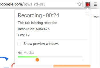 registrare video chrome