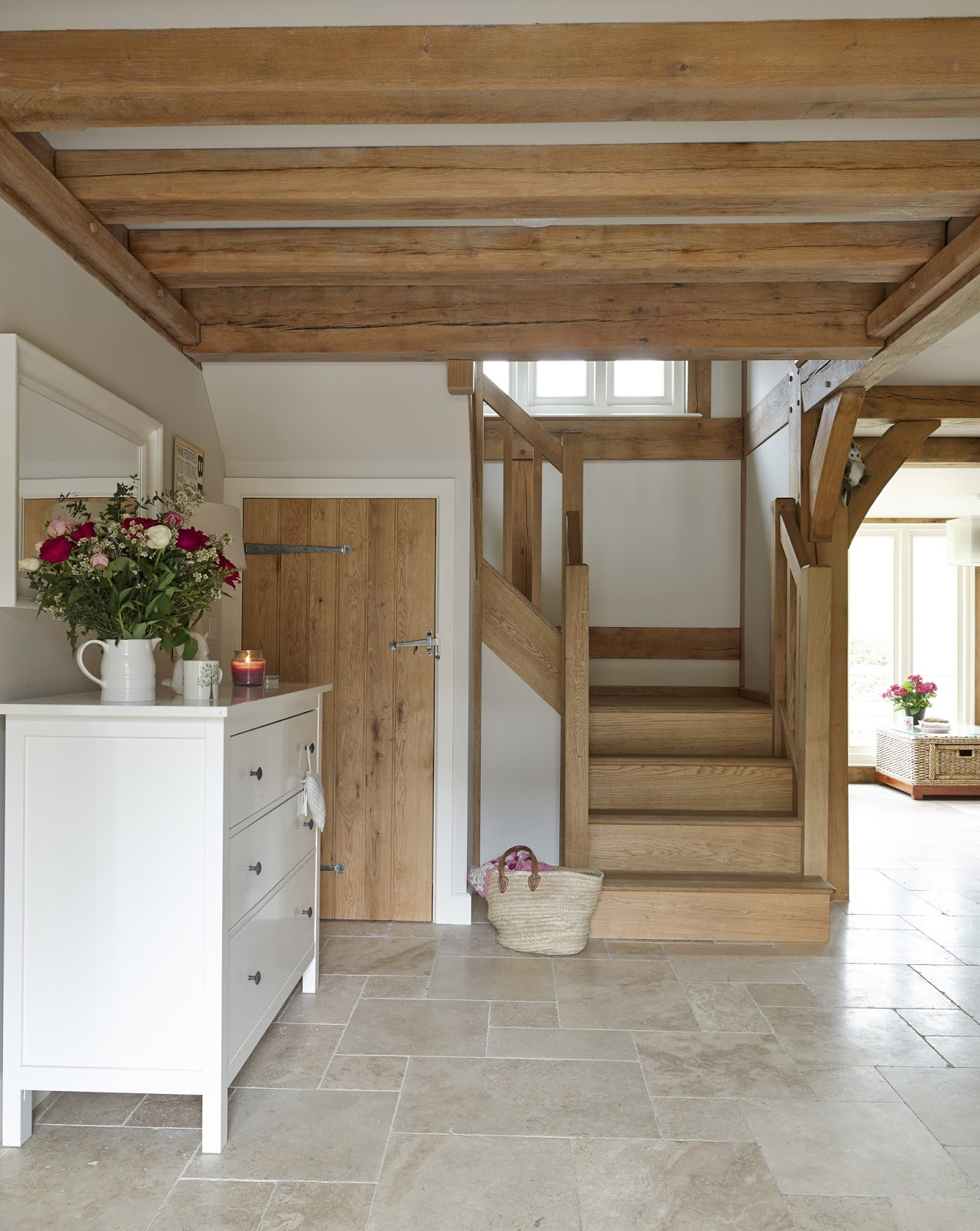 From little acorns weatherboarded oak cottage for Country floors tile
