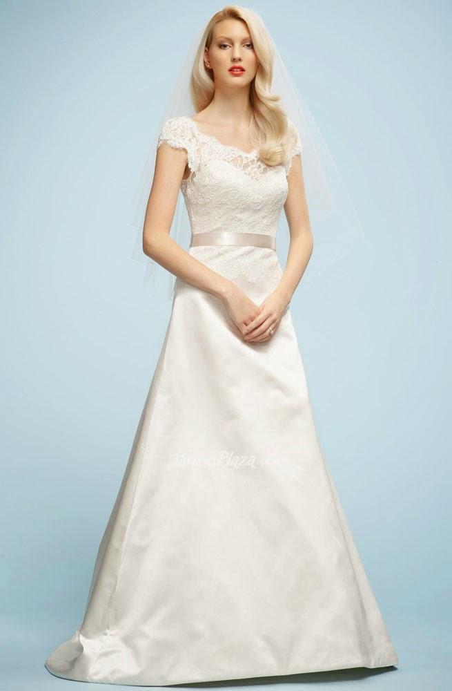 Informal Wedding Dresses Belts Cap Sleeves Design pictures hd