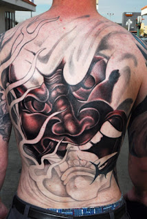 Hanya Mask Back Tattoo  Design