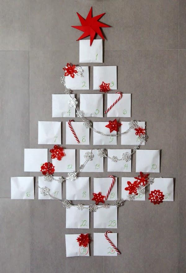 Decoraci n f cil arboles de navidad en la pared for Arbol de navidad mural
