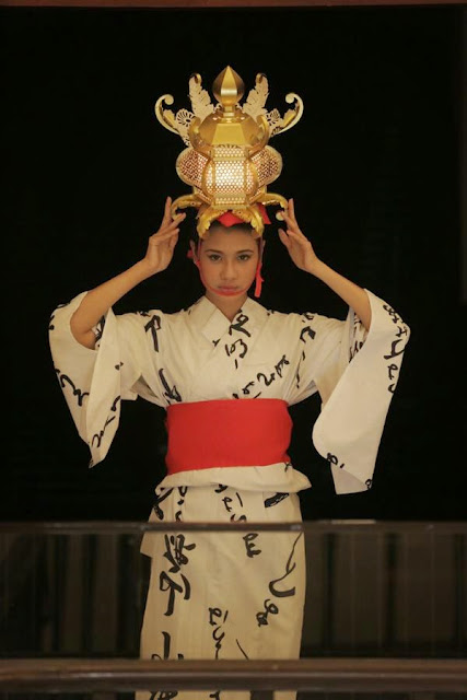 Amanda Zevannya memakai Yamaga-toro