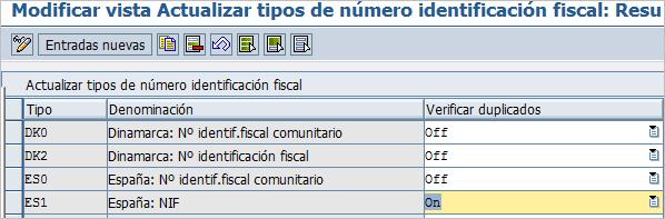 parametrización para nifs duplicados
