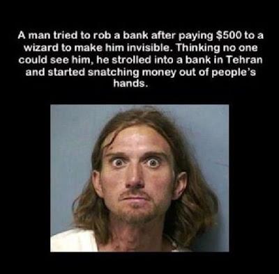 unsichtbarer Bankräuber zahlte 500 Euro an Zauberer