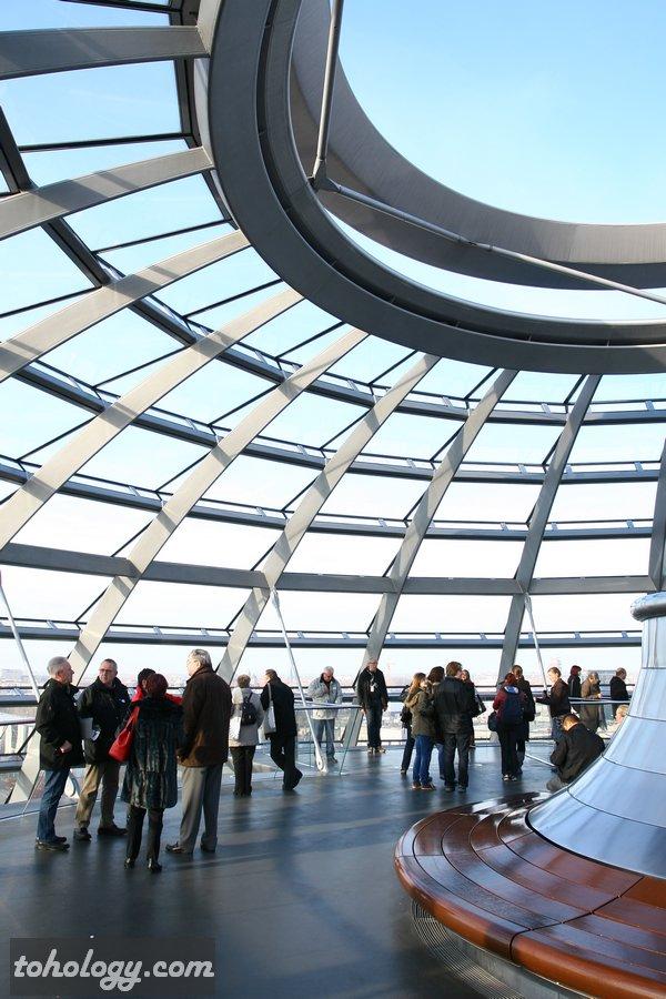 The top level of the Reichstag dome / Верхний уровень купола Рейхстага