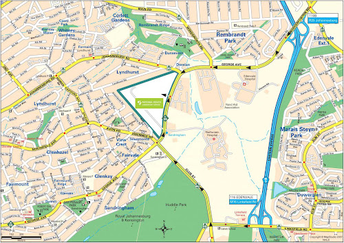 Johanesburgo map