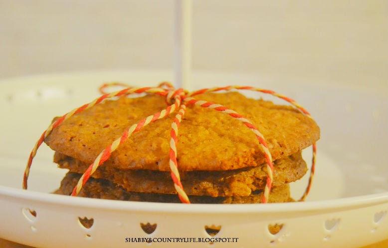 Santa' s Cookies con cioccolato, mandorle e marsala- shabby&countrylife.blogspot.it